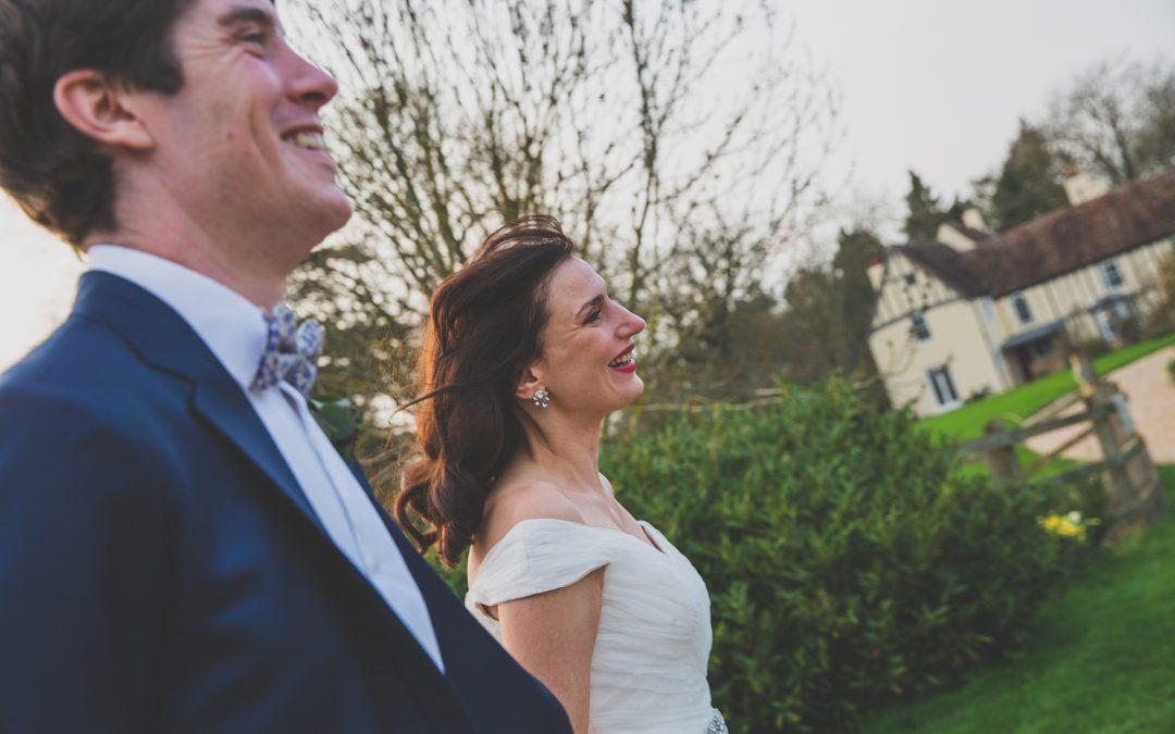 Wedding Sneak Peek – Theresa and Will at Bassmead Manor Barns, Staploe