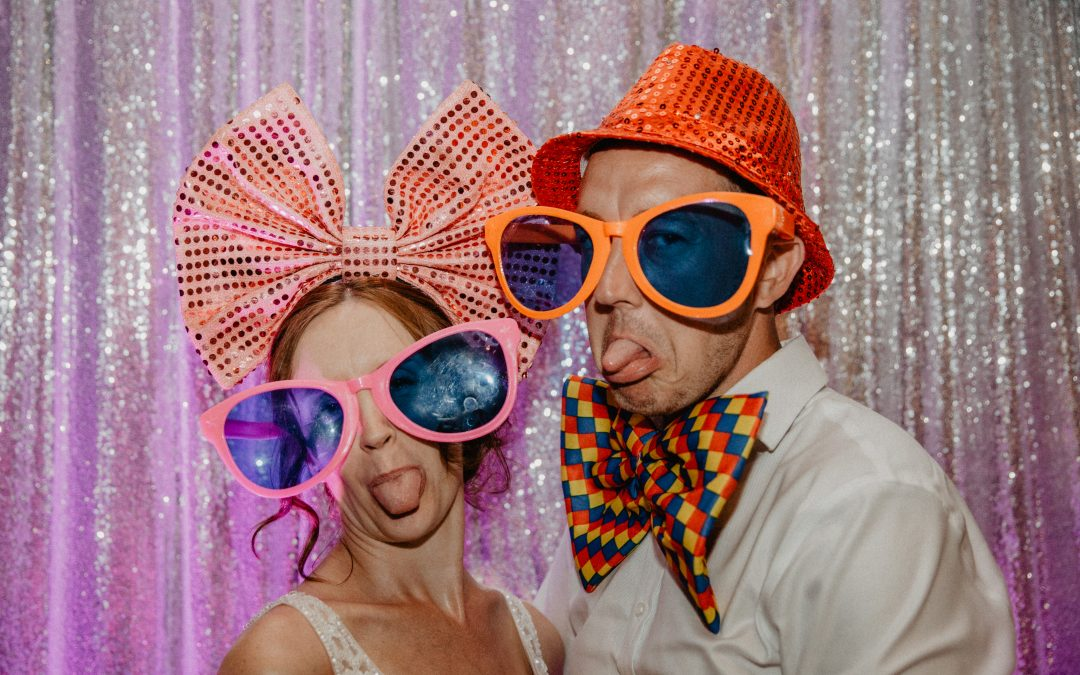 Amy and Dan's colourful wedding at South Farm, Royston